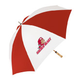 62 Inch Red/White Vented Umbrella-Sacred Heart w/ Pioneer