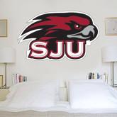 3 ft x 3 ft Fan WallSkinz-Hawk Head w/ SJU