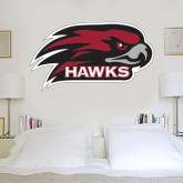 's 6 in x 1 ft Fan WallSkinz-Hawk Head w/ Hawks