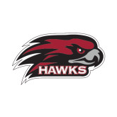 Large Decal-Hawk Head w/ Hawks