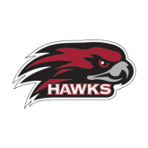 Extra Large Decal-Hawk Head w/ Hawks