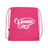 Nylon Pink Drawstring Backpack-Primary Mark