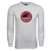 White Long Sleeve T Shirt-Saint Josephs University Circle