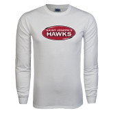 White Long Sleeve T Shirt-Saint Josephs Hawks