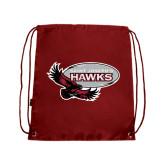 Nylon Cardinal Drawstring Backpack-Primary Mark