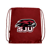 Cardinal Drawstring Backpack-Hawk Head w/ SJU