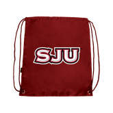 Cardinal Drawstring Backpack-SJU