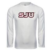 Performance White Longsleeve Shirt-SJU