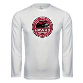 Performance White Longsleeve Shirt-Saint Josephs University Circle