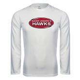 Performance White Longsleeve Shirt-Saint Josephs Hawks