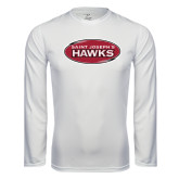 Syntrel Performance White Longsleeve Shirt-Saint Josephs Hawks
