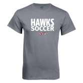 Charcoal T Shirt-Hawks Soccer Stacked
