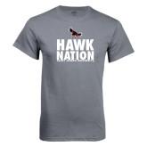 Charcoal T Shirt-Hawk Nation
