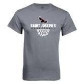 Charcoal T Shirt-Basketball Sharp Net Design