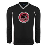 's V Neck Black Raglan Windshirt-Saint Josephs University Circle