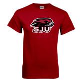 Cardinal T Shirt-Hawk Head w/ SJU