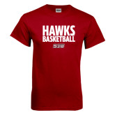 Cardinal T Shirt-Hawks Basketball Stacked
