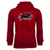 Cardinal Fleece Hoodie-Hawk Head w/ Hawks