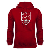 Cardinal Fleece Hood-Soccer Shield Design