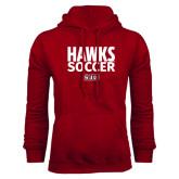 Cardinal Fleece Hoodie-Hawks Soccer Stacked