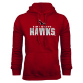 Cardinal Fleece Hood-Saint Josephs Hawks Splash