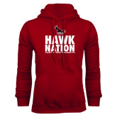 Cardinal Fleece Hood-Hawk Nation
