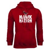 Cardinal Fleece Hoodie-Hawk Nation