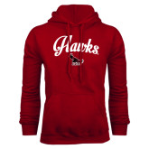 Cardinal Fleece Hood-Scripted Hawks