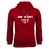 Cardinal Fleece Hood-Basketball Sharp Net Design