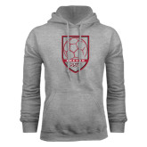 Grey Fleece Hood-Soccer Shield Design