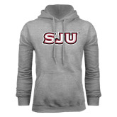 Grey Fleece Hood-SJU