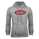 Grey Fleece Hood-Saint Josephs Hawks