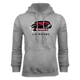 Grey Fleece Hood-Lacrosse