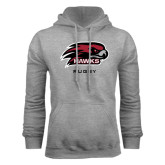 Grey Fleece Hood-Rugby