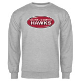 Grey Fleece Crew-Saint Josephs Hawks