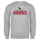 Grey Fleece Crew-Saint Josephs Hawks Splash