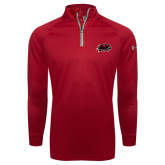 Under Armour Cardinal Tech 1/4 Zip Performance Shirt-Hawk Head w/ Hawks