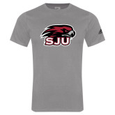 Adidas Sport Grey Logo T Shirt-Hawk Head w/ SUJ