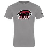 Adidas Sport Grey Logo T Shirt-Hawk Head w/ SJU
