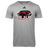 Adidas Climalite Sport Grey Ultimate Performance Tee-Hawk Head w/ SUJ