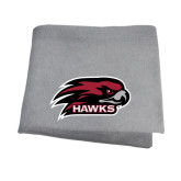 Grey Sweatshirt Blanket-Hawk Head w/ Hawks
