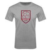 Grey T Shirt-Soccer Shield Design