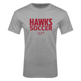 Grey T Shirt-Hawks Soccer Stacked