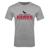 Grey T Shirt-Saint Josephs Hawks Splash
