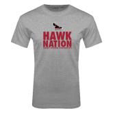 Grey T Shirt-Hawk Nation