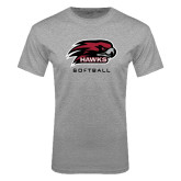 Grey T Shirt-Softball