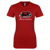 Next Level Ladies SoftStyle Junior Fitted Cardinal Tee-Cross Country