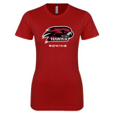 Next Level Ladies Softstyle Junior Fitted Cardinal Tee-Rowing