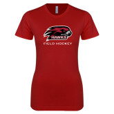 Next Level Ladies Softstyle Junior Fitted Cardinal Tee-Field Hockey