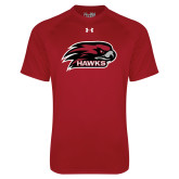 Under Armour Cardinal Tech Tee-Hawk Head w/ Hawks